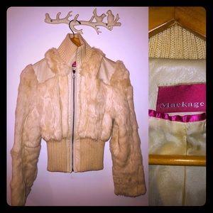 Rabbit fur coat XS Mackage